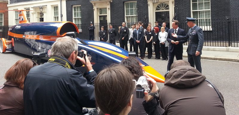 World's Fastest Car in Downing Street
